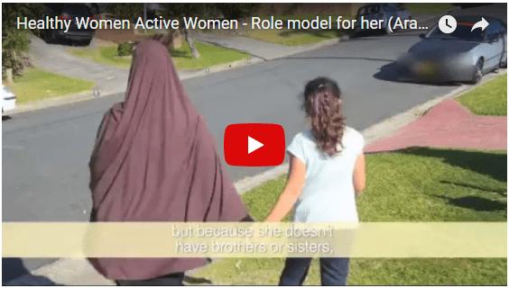 Role model for her daughter   Healthy Women Active Women